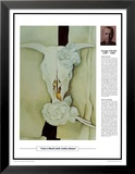 Twentieth Century Art Masterpieces - Georgia O'Keeffe - Cow's Skull with Calico Roses Print by Georgia O'Keeffe