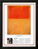 Capolavori del XX° secolo - Mark Rothko - Arancione e marrone chiaro Stampe di Mark Rothko