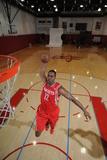 NBA Basketball, Houston Rockets - Dwight Howard in Uniform Photographic Print