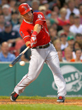 Boston, MA - June 8: Boston Red Sox v Los Angeles Angels of Anaheim, Mike Trout Photographic Print