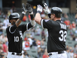 Chicago, IL - Junel 28: Adam Dunn and Alexei Ramirez Photographic Print
