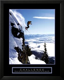 Herausforderung: Skifahrer Kunstdrucke
