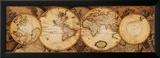 Weltkarte: Nova Totius Terrarum Orbis    Kunstdruck