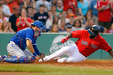Boston, MA - June 28: J.P. Arencibia and David Ortiz Photographic Print