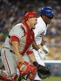 Los Angeles, CA - June 27: Juan Uribe Photographic Print