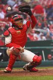 St. Louis, MO - April 27: Yadier Molina Photographic Print