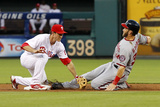 Philadelphia, PA - July 8: Chase Utley and Bryce Harper Photographic Print