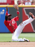Cincinnati, OH - July 07: Brandon Phillips and Kyle Seager Photographic Print