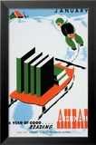 Historic Reading Posters - January, A Year of Good Reading Ahead Umění