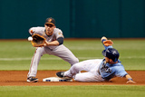 St. Petersburg, FL - June 9: Shortstop J.J. Hardy and Ben Zobrist Photographic Print