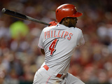 St. Louis, MO - April 30: Brandon Phillips and Jaime Garcia Photographic Print