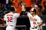 Baltimore, MD - June 25: Chris Davis and Matt Wieters Photographic Print