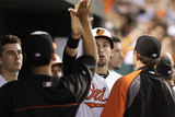 Baltimore, MD - June 27: Ryan Flaherty and Nick Markakis Photographic Print