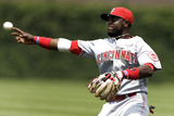 Chicago, WI - June 12: Brandon Phillips and get David DeJesus Photographic Print