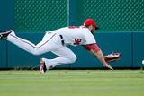 Washington, DC - July 05: Left fielder Bryce Harper and Chris Denorfia Photographic Print