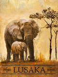 Lusaka Poster av Patricia Quintero-Pinto