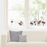 Multicolored Anemones Window Decal Stickers Window Decal