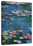 Water Lilies Wrapped Canvas Art Stretched Canvas Print by Monet Claude