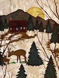 Cabin in the Woods II Print by Nicholas Biscardi