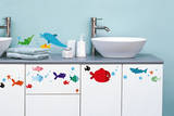 Fish Decorative Water Resistant Wall Sticker Decal Wall Decal