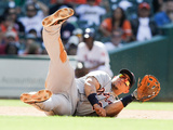Houston, TX - May 05: Miguel Cabrera and Robbie Grossman Photographic Print