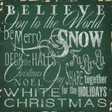 Holiday Type IV Poster by Elizabeth Medley