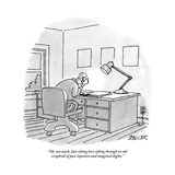 """Oh, not much. Just sitting here sifting through an old scrapbook of past …"" - New Yorker Cartoon Premium Giclee Print by Jack Ziegler"