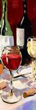 Vin et dîner II Art par Jane Slivka