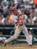 Detroit, MI - June 25: Mike Trout and Hank Conger Photographic Print