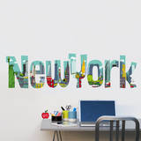 Cartoon New York Wall Decals Wall Decal