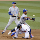 Minneapolis, MN - June 27: Oswaldo Arcia, Elliot Johnson and Alcides Escobar Photographic Print