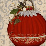 Red Ornament II Prints by Patricia Quintero-Pinto
