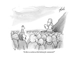 """""""Is there a section at the bottom for comments?"""" - New Yorker Cartoon Premium Giclee Print by Tom Toro"""