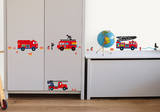 Fire Trucks Decorative Water Resistant Wall Sticker Decal Wall Decal