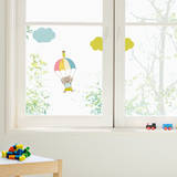 Bear And His Parachute Wall Decal