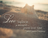 Love Begins in a Moment Print by Susan Bryant