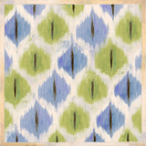 Green & Blue Ikat Print by Patricia Quintero-Pinto