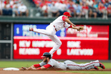 Philadelphia, PA - July 11: Chase Utley and Bryce Harper Photographic Print
