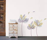 Gray & Purple Petals Wall Decals Wall Decal