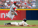 Atlanta, GA - July 13: Brandon Phillips and Reed Johnson Photographic Print