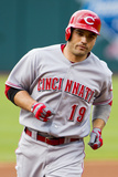Cleveland, OH - May 29: Joey Votto and Justin Masterson Photographic Print
