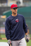 Kansas City, MO - April 8: Joe Mauer Photographic Print