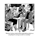 """""""Why don't I tell you a little bit about myself while you check to see if …"""" - New Yorker Cartoon Premium Giclee Print by William Haefeli"""