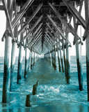 Teal Dock I Prints by Jairo Rodriguez