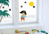 Pirate & Stars Window Decal Stickers Window Decal