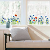 Field of Cornflowers Window Decal Stickers Window Decal