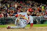 Washington, DC - April 22: Matt Holliday and Yadier Molina Photographic Print