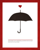 Sharing an Umbrella Art by Addie Marie
