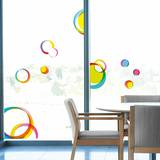 Multicolored Circles Window Decal Stickers Window Decal
