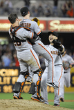 San Diego, CA - July 13: Tim Lincecum and Buster Posey Photographic Print